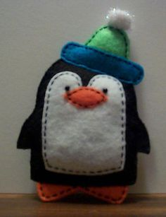 Felt Penguin Christmas Ornament...follow this link: http://www.cutoutandkeep.net/projects/felt_penguin_christmas_ornament
