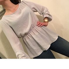 Light grey blouse with tags Very cute blouse, lightweight, can dress up or down. Tops Blouses