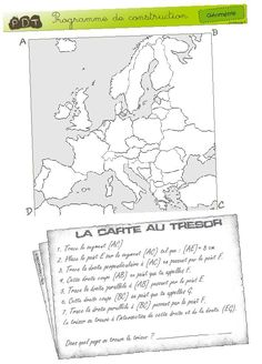 pin now - check out later carte au trésor - géométrie Math 5, Teaching Math, Montessori, French Basics, School Organisation, 2nd Grade Math, Teaching French, Learn French, Kids Education