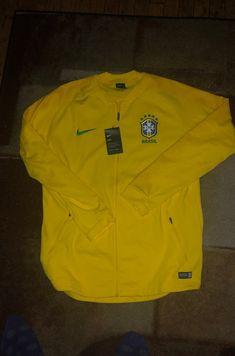 NEW HUGO BOSS DESIGNER YELLOW BRAZIL BRASIL FOOTBALL CARDIGAN KNITWEAR JUMPER