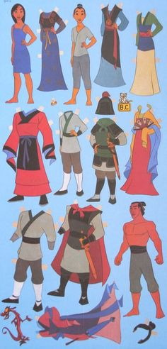 Image detail for -xparm : Paper dolls reproduction - Mulan (Chinese Animation)