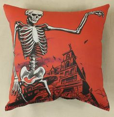 House On Haunted Hill Printed Pillow (Red) created by Horror Decor. http://morethanhorror.com/productdetails.php?productid=1379