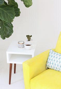 DIY MAKEOVER   Fabric Spray-Painted Chair   I SPY DIY