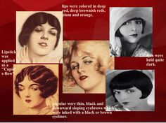 1920s makeup  The most famous Cupid bow shaped lips with thin I eyeliners