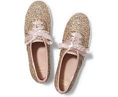 Keds Keds x kate spade new york Champion Glitter in rose gold...so pretty!