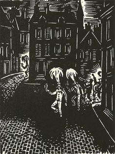 """Frans Masereel, né à Blankenberge en 1889 et décédé en 1972 à Avignon a édité, en 1956, un livre, """"Mon Pays"""", qui contenait 100 superbes de ses bois gravés dont un d'entre eux représente le carnaval de Binche. Ce livre dont la première édition eut un tirage limité, fut réédité en 1964 par les Editions Ilita."""