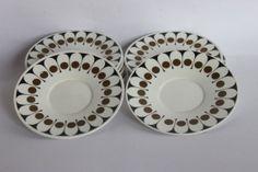 Retro Black Velvet Hostess tableware by millcottagevintage on Etsy, £3.50