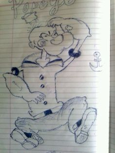 Popeye remembering childhood