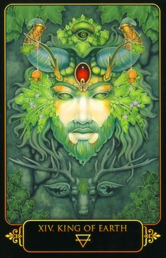 King of Earth. Dreams of Gaia Tarot by Ravynne Phelan.