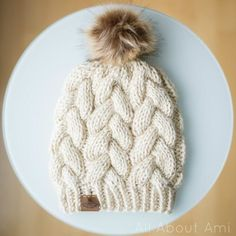 Prem Knits' Braided Cable Beanie