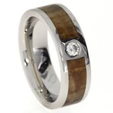 Image result for wood and diamond wedding band