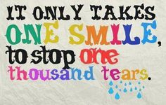 "Smile Quote #14 ""It only takes one smile to stop one thousand tears."" Gluck Orthodontics - 2002 Richard Jones Road, Suite A-200, Nashville, TN 37215 Phone: 615 269 5903 #smilequote #smile #gluckorthodontics"