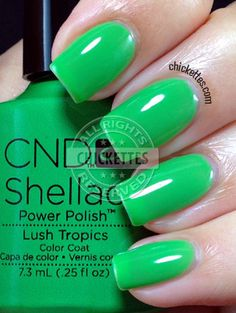 CND Shellac Paradise Collection Summer 2014 - Lush Tropics