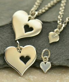 Sterling Silver Mother Daughter Heart Charm Necklace-https://www.etsy.com/listing/249445735/mother-daughter-necklace-sterling-silver