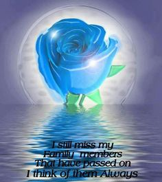 I miss my family members who have passed on I 'think of them always xx