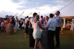 Our awesome wedding and reception venue! I love how it captures the guests enjoying themselves in a casual setting