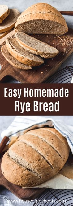 2 Easy Homemade Caramel Popcorn Recipes This Easy Homemade Rye Bread Made With Caraway Seeds Tastes Delicious And Is A Wonderful, Wholesome Change For Sandwiches, Toast, Or Just Served With Butter Along With A Meal. Homemade Rye Bread, Rye Bread Recipes, Bread Machine Recipes, Baking Recipes, Rustic Bread, Recipes With Rye Flour, Potato Recipes, Gourmet, Bread Recipes