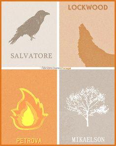 #TheVampireDiaries Family Symbols