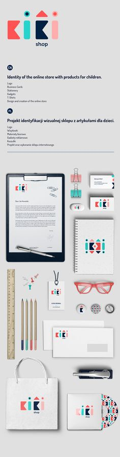 Identity of the online store with products for children www. Corporate Logo Design, Brand Identity Design, Graphic Design Branding, Corporate Strategy, Kids Branding, Logo Branding, Presentation Logo, Brand Packaging, Packaging Design