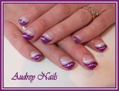 French en vague hypnotic violet et blanc + argent