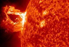 M1 Coronal mass ejection, April 16th.    Credit: NASA/SDO/AIA