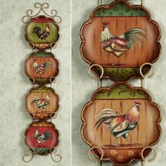 rooster kitchen decor marble top round table 501 best my country images hens king of the barnyard decorative plate set platesrooster decorrooster