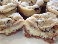 Chocolate Chip Cookie Dough Mini Cheesecakes.
