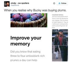 kiLL ME OH MY LORD « what if he doesn't even like plums and he's only eating them so he can improve his memory