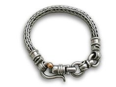Men women bracelet braided silvera special clasp by cremerdani, $880.00