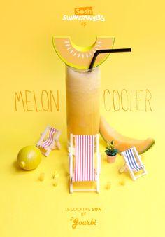 soshfr:  SOSH SUMMER WEEK #5 COCKTAIL SUN ¼ de melon charentais, jus d'orange, jus de citron, le toutau blender! #ENJOY