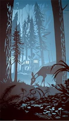 paper cut out art by???  ♥•♥•♥