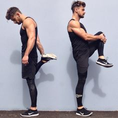 Stretching out after a great workout, wearing new compression gear from Body Science