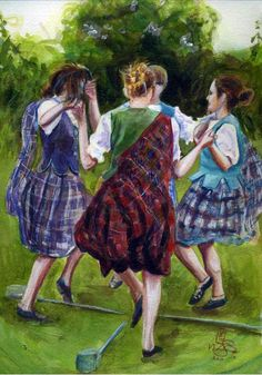 Celtic: #Celtic Sword Dance. Celebrate Irish and Celtic culture with Irish jewelry at http://www.handcraftedcollectibles.com/celtic_jewelry.htm