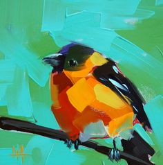 Black-headed Grosbeak | angela moulton's painting a day