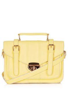 Twist Lock Satchel - Satchels - Bags & Wallets  - Bags & Accessories. Springtime yellow