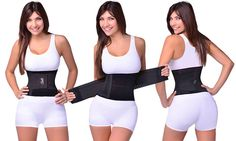 This waist trainer and body shaper helps you obtain a slimmer waist, and an hourglass shape in seconds with an adjustable closure