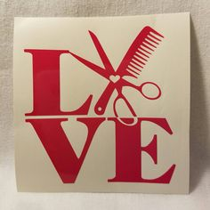 Stylist Love Vinyl Decal by FavorDesignsBoutique on Etsy Car Decals, Vinyl Decals, Gifts For Boss, Contact Paper, Paper Shopping Bag, Primary Colors, Craft Supplies, Crafty, Custom Vinyl