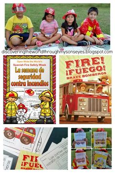 Spanish Fire Safety Week Homeschool Activities-Discovering The World Through My Son's Eyes