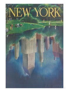 Travel Poster, Central Park, New York City Posters at AllPosters.com
