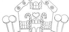Image result for paper gingerbread house template