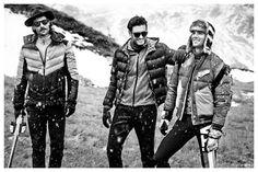 Edward Wilding, Tommy Dunn & Gaspard Menier Model Rugged Fashions for GQ Italia