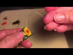 Alternate Method of Huichol Netting v.1 - YouTube