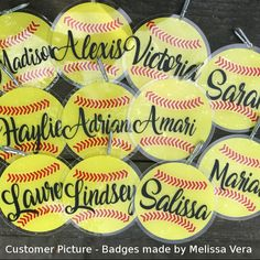Softball Ball SVG file for Cricut & Silhouette paper and vinyl cutting machines and printable Softball clipart Softball Party, Softball Cheers, Softball Crafts, Softball Pitching, Softball Bows, Softball Shirts, Cheerleading Gifts, Softball Players, Fastpitch Softball