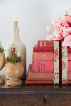 Styling with vintage books