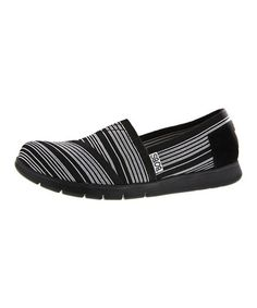 4774aa4f1685 BOBS from Skechers Black   White Pureflex-Spring Forward Slip-On Shoe