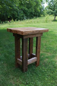 Barn Wood Pub Table by LazerEnterprises on Etsy, $765.00