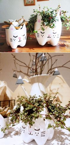 Plant pot made From Recycled Plastic Bottle