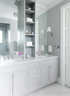 Jenny Wolf Interiors in Chelea - elegant white bathroom