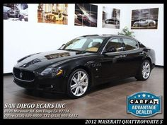 Car-For-Sale-In-San Diego | 2012 Maserati Quattroporte S | http://sandiegousedcarsforsale.com/dealership-car/2012-Maserati-Quattroporte-S