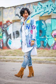 Sweenee Style, CandiPaints, Indianapolis Style Blog, Indianapolis Fashion Blog,Denim Jacket, Boyfriend Jeans